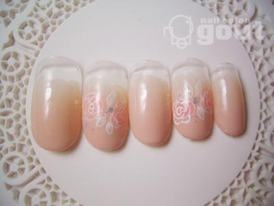 五反田 ネイル nail slon gout  ジェル ベージュ