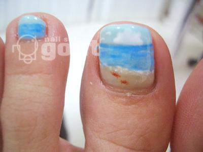 五反田 ネイル nail salon gout   ジェル  フット ブルー