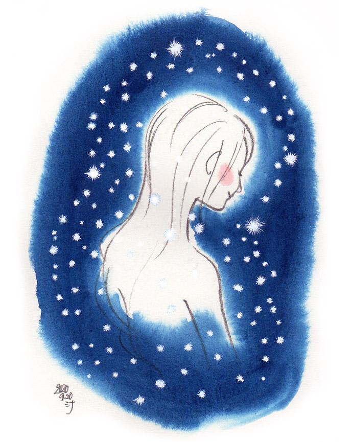 「夢」スケッチ:小さな光を身にまとう♪