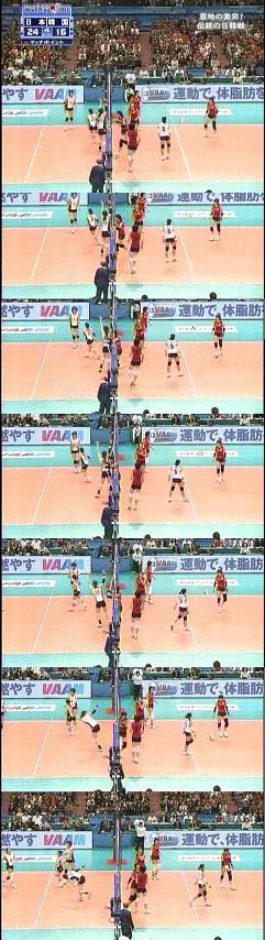 バレーW杯女子日韓戦