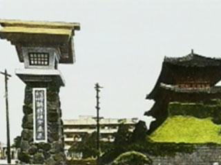 日本時代の灯篭