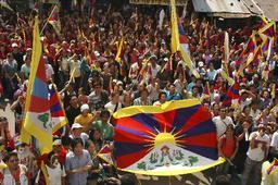 チベット人のデモ