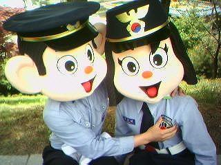 韓国 警察 マスコット