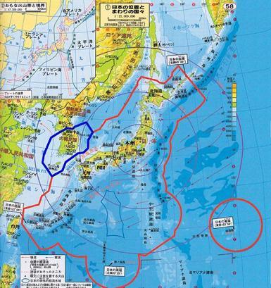 日本 韓国 領海 地図