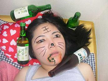 朝鮮 アガシ 酒 落書き