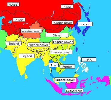 列強に包囲される日本