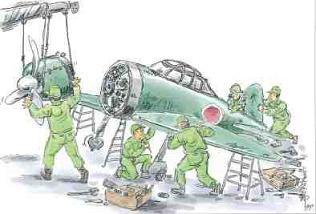 台湾 少年工 飛行機組み立て