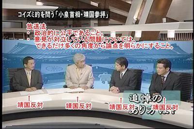 靖国神社 TBS 筑紫哲也 NEWS23