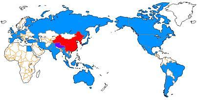 靖国神社 公式参拝国と反対国