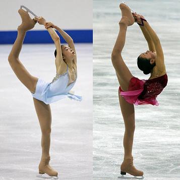 キム・ヨナ(左) 浅田真央(右)
