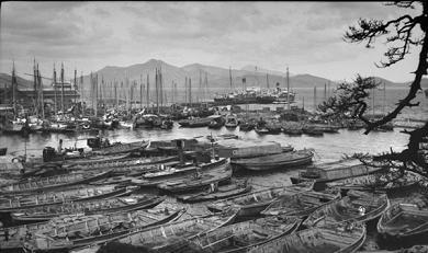 韓国 釜山港