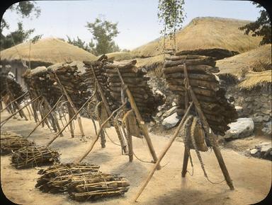 韓国 木製の背負子