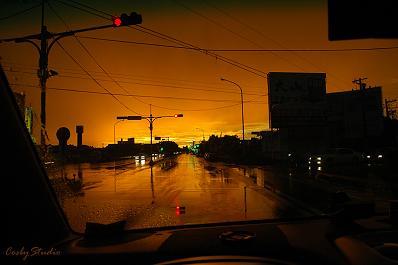 台湾 新竹県 台風の日