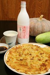 韓国 どぶろく 自家栽培のカボチャを使ったチヂミ(大昌園)