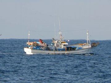 拿捕された韓国船籍の漁船「ミョンギョン」