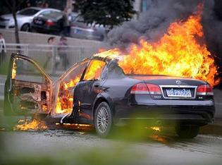 中国 車 火災