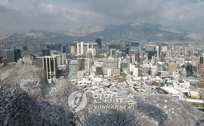 韓国 ソウルの町並み