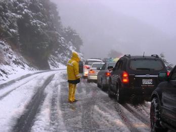 台湾 合歓山の大雪