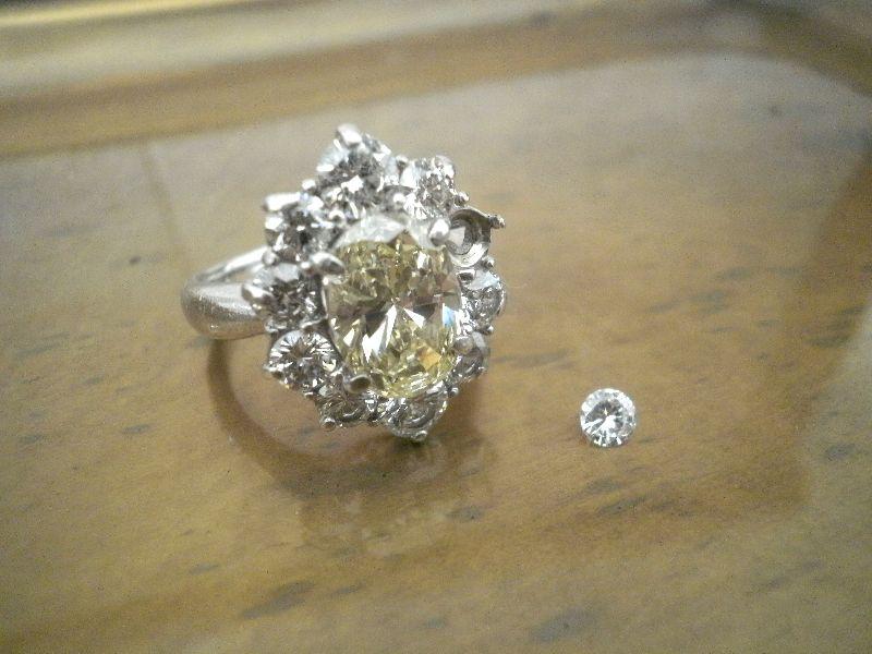 ダイヤモンド 外れた 修理