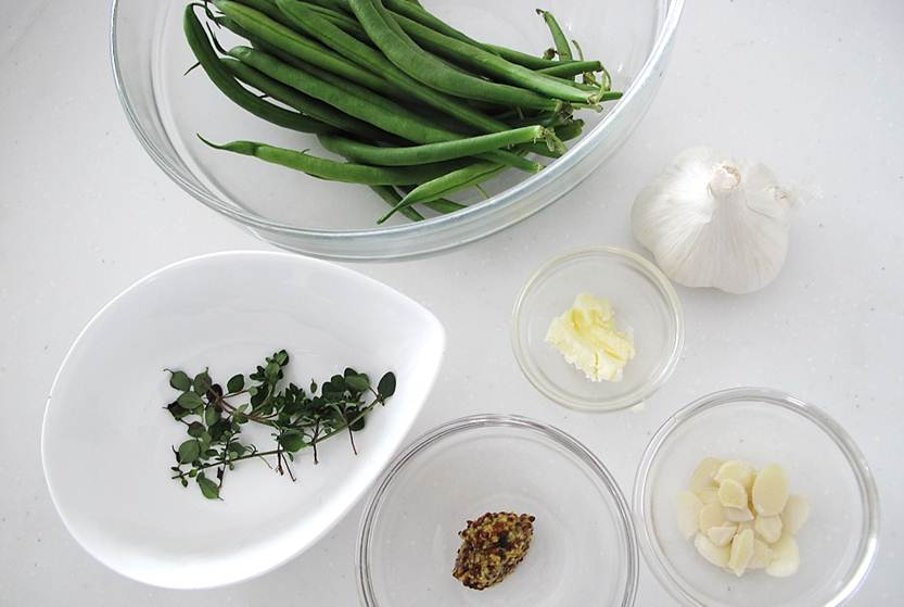 インゲン豆のタイム和え