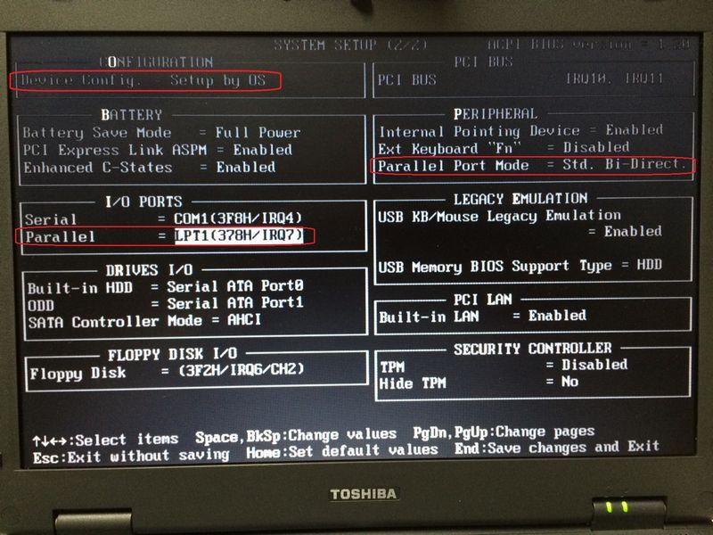 J80 BIOS設定画面