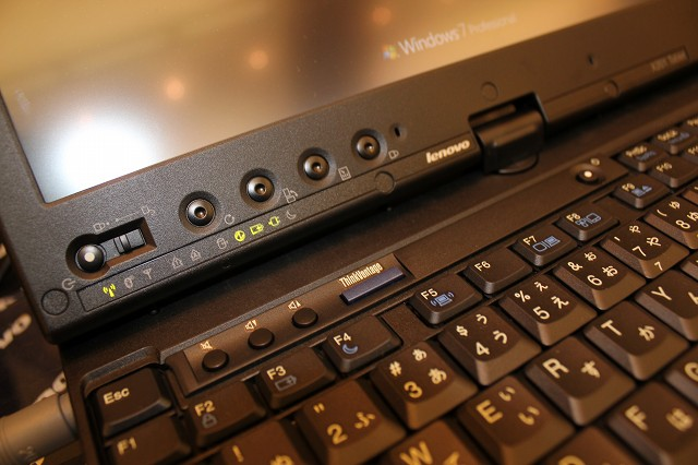 ThinkPad X201T ボタン