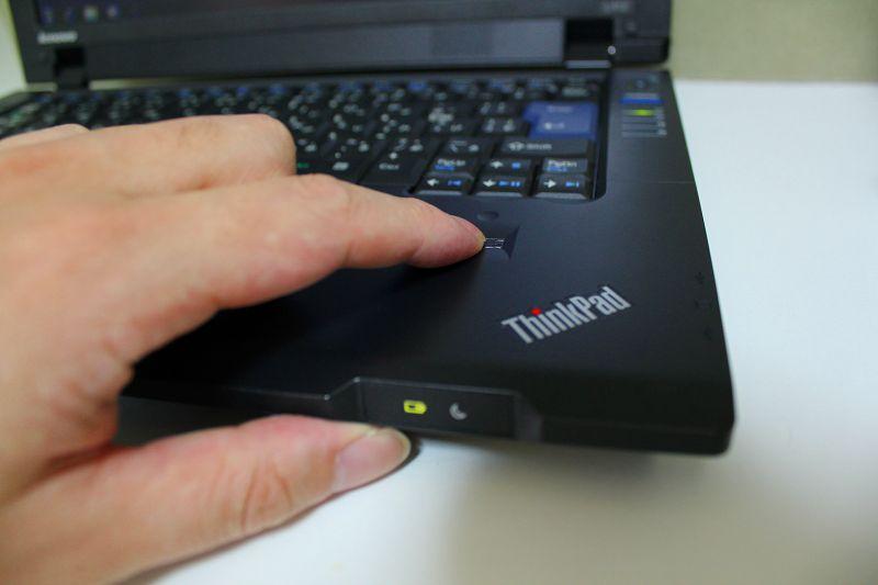 指紋認証センサー搭載