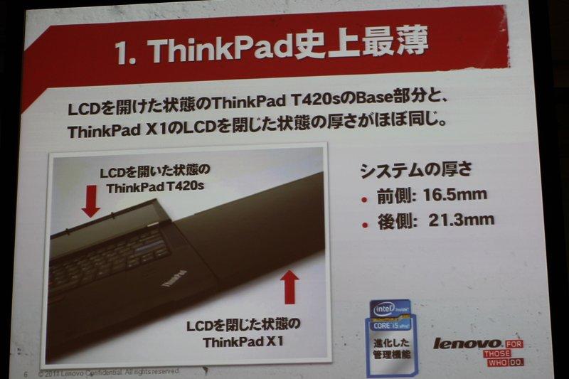 ThinkPad X1の紹介 プレゼン(4)