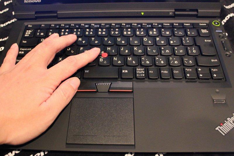 ThinkPad X1の操作感