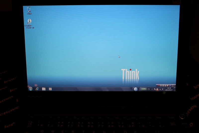 ThinkPad X1の液晶
