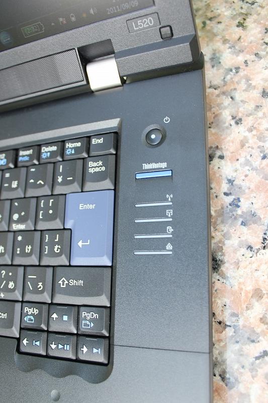 ThinkPad L520の右にあるThinkVantageボタン