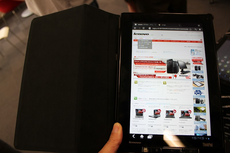 ThinkPad Tabletの使用感