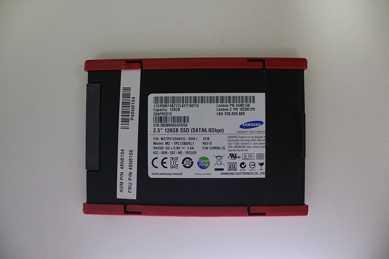 ThinkPad T430sのSSDはSAMSUNG MZ-7PC1280/0L1