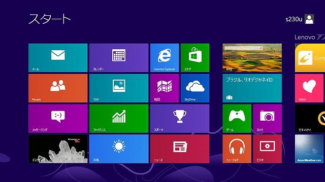 Windows8スタート