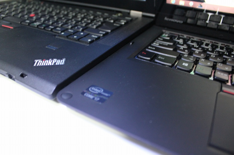 ThinkPad TwistとT430s 薄さ比較
