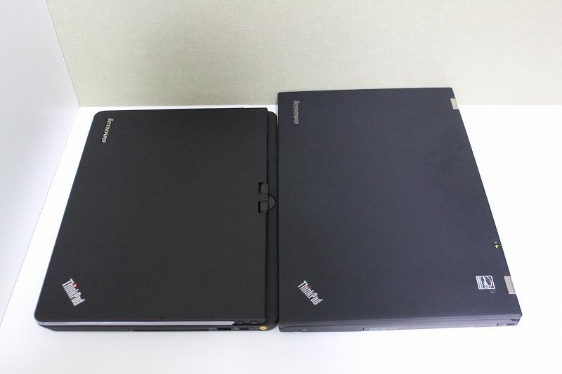 ThinkPad TwistとT430sの天板を見比べる
