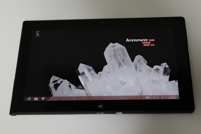 ThinkPad Tablet 2のWindows8デスクトップ