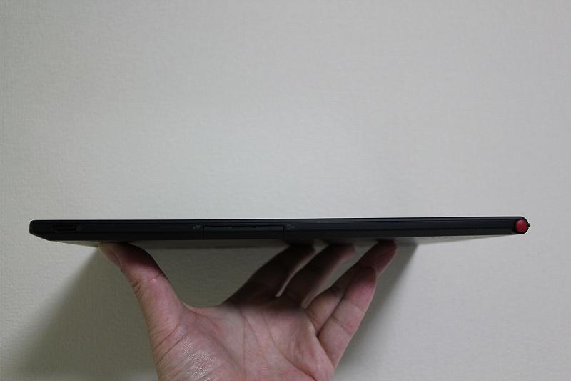 ThinkPad Tablet 2の薄さと軽さ