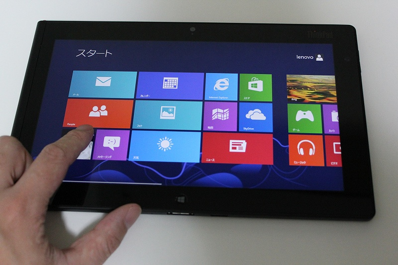 ThinkPad Tablet 2にタッチ