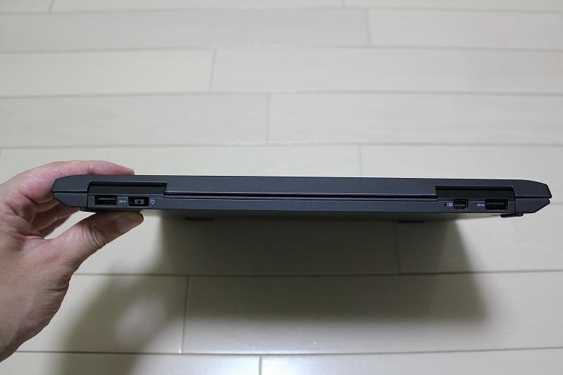 ThinkPad Helixとキーボードドック合体時 背面