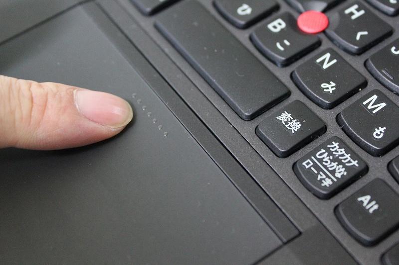 ThinkPad Helixは5ボタンクリッカブルタッチパッド搭載