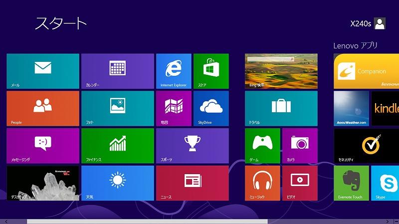 Windows8 スタート(1)