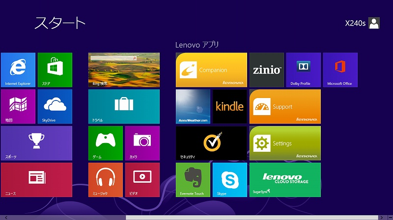 Windows8 スタート(2)