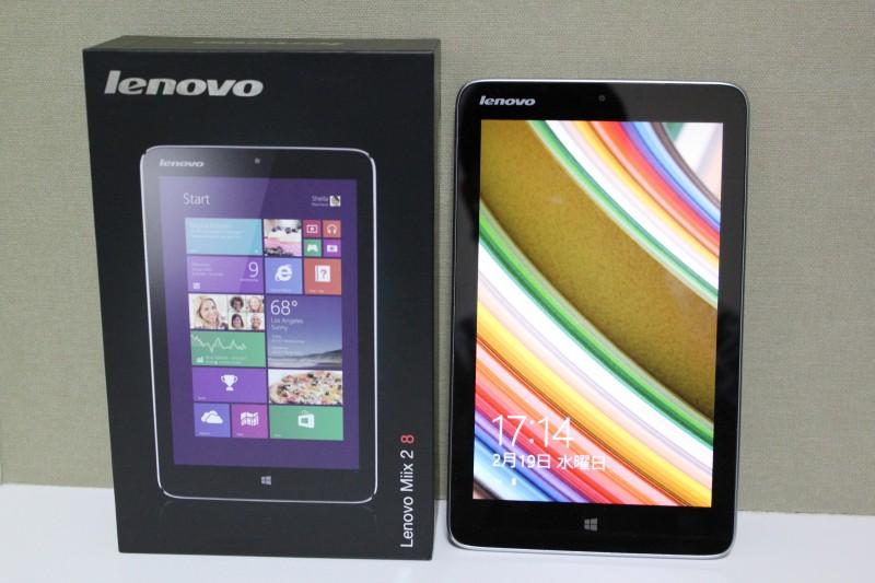 Lenovo Miix2 8の箱と本体