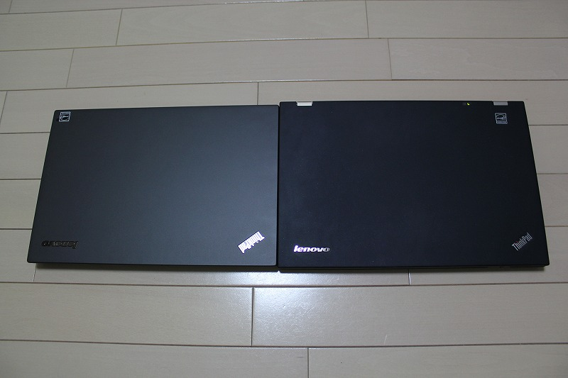 ThinkPad T440sとThinkPad T430sの比較写真