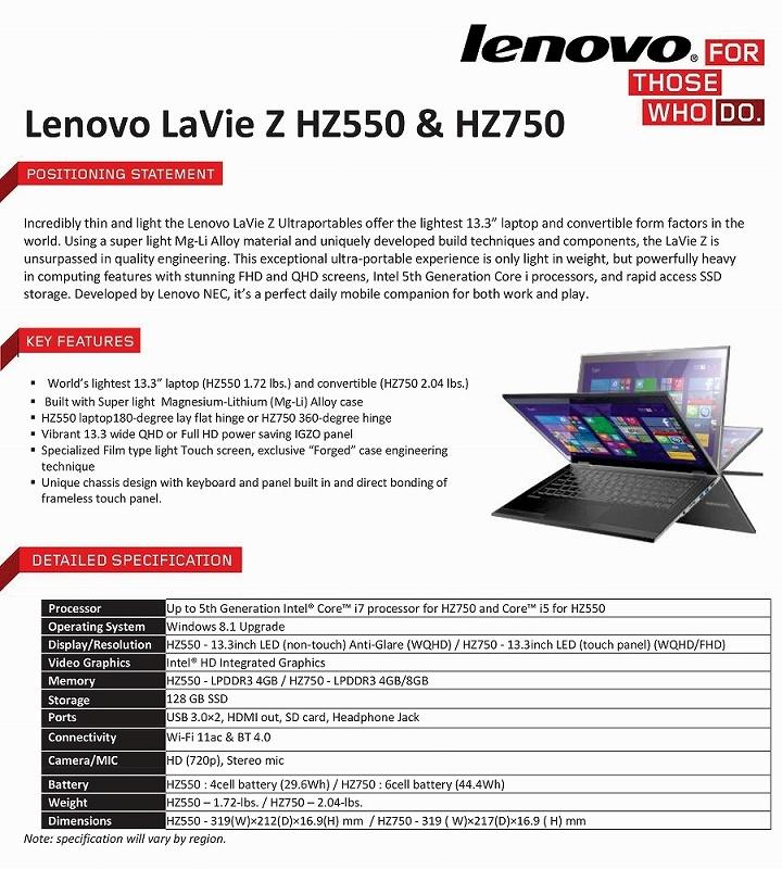 Lenovo LaVie Z