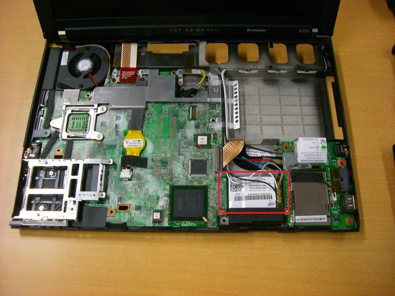 ThinkPad X200分解写真