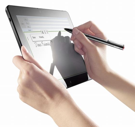 ThinkPad 10 ペンによる手書き入力対応