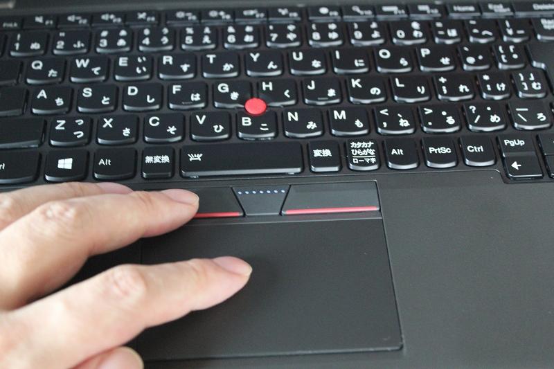 ThinkPad X250 タッチパッドの使用感