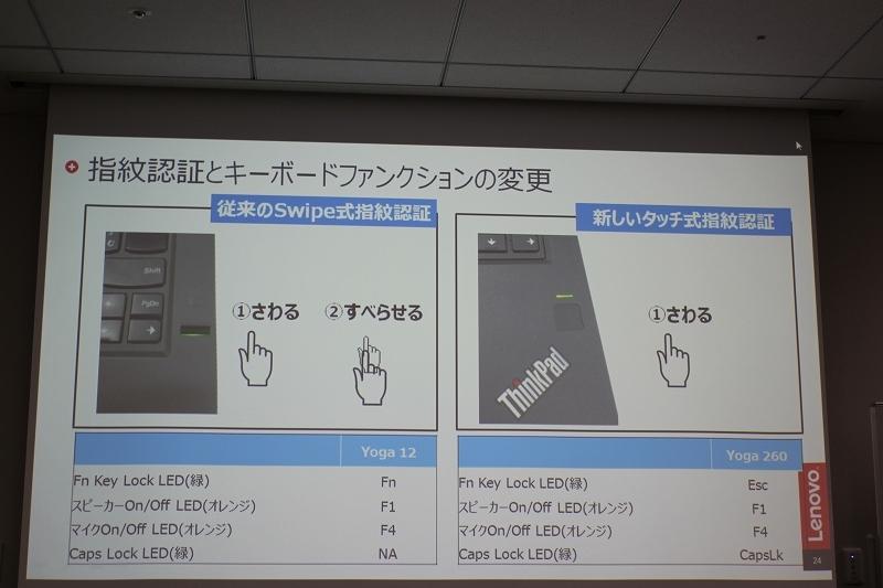 指紋認証とキーボードファンクションの変更